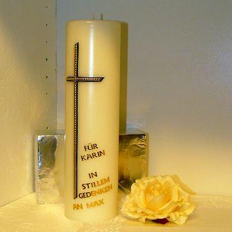Trauerkerze Kreuz
