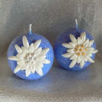 Edelweiss Kugel 6 cm