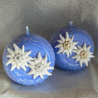 Edelweiss Kugel 8 cm