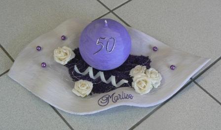 Geburtstag Wachsschale