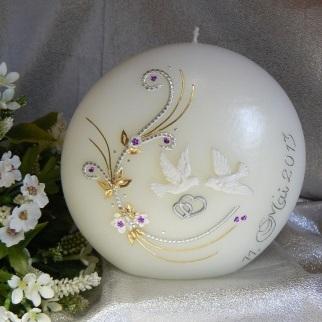Hochzeitskerze Ornament Tauben