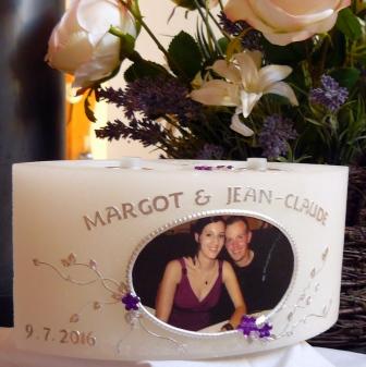 Hochzeitskerze Wachslicht Foto
