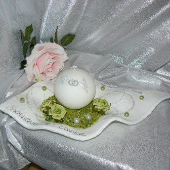 Hochzeitskerze Wachsschale 50