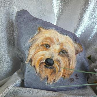 Wachsbild Hund Boubou