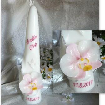 Taufkerze Orchidee
