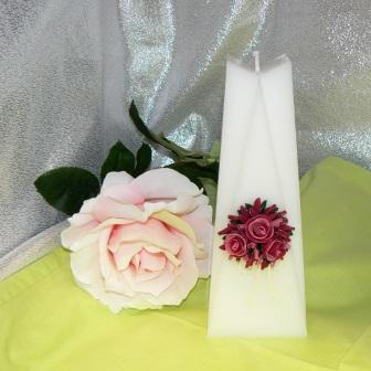 Rosenkerze Triangel