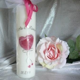 Hochzeitskerze Herz gross mit kleinen Herzli
