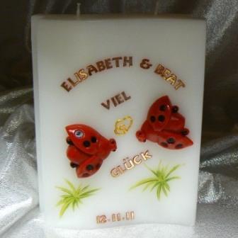 Hochzeitskerze fliegende Käfer