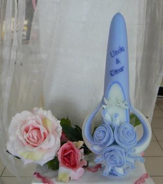 Hochzeitskerze Rosen