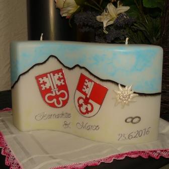 Hochzeitskerze Spezial Wappen & Berge