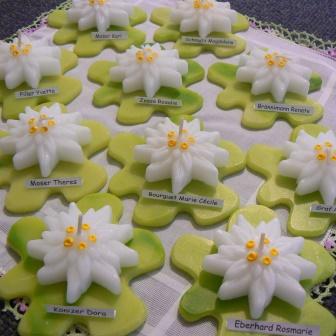 Tischdekoration Edelweiss  (2)