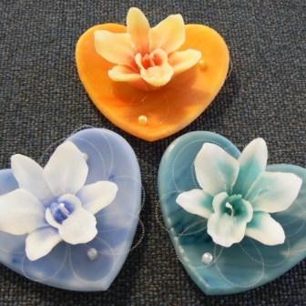 Herz mit Orchidee